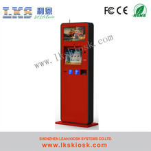 Touch Screen cash acceptor kiosk With Banner