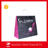 Coloured Paper Bag For Shoes,Fancy Paper Shopping Bag With Brand Name