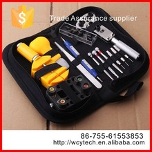 Best metal and plastic 13pcs watchmaker wrist watch repair tool kit with carry case
