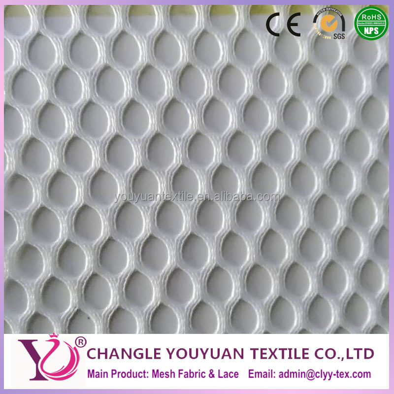 new desigh Raindrops shape white polyester mesh fabric