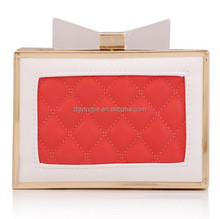 (S20200)PU Quilted Hard Clutch Bag Fashion Lady Handbag New Style Night Bag