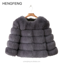 China Factory Wholesale Warm And Fuzzy Fox Fur Coats For Women