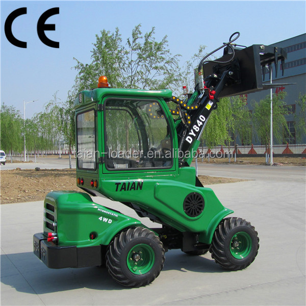 Small mower tractor DY840 mini garden front end loader tractor with telescopic boom