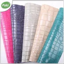 1.2mm mirror crocodile PU leather fabric for making bags