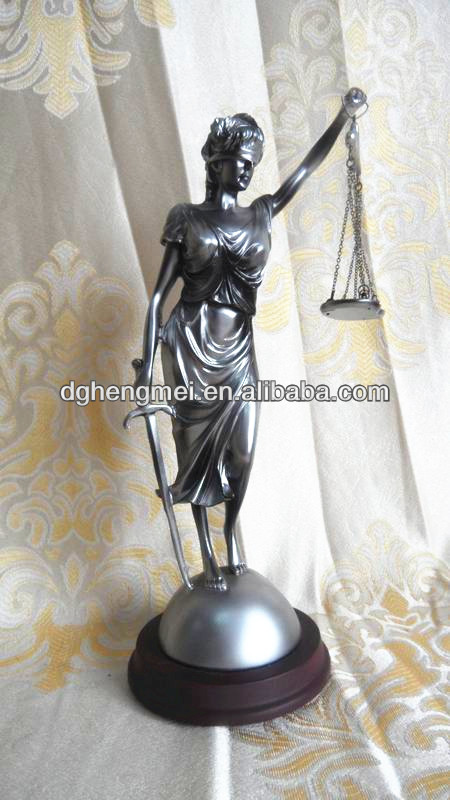 Resin cool lady statue