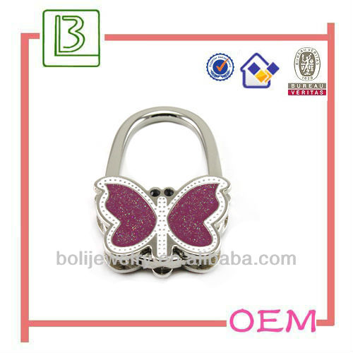 2013 handbags fashiona butterfly gifts purse hooks for tables