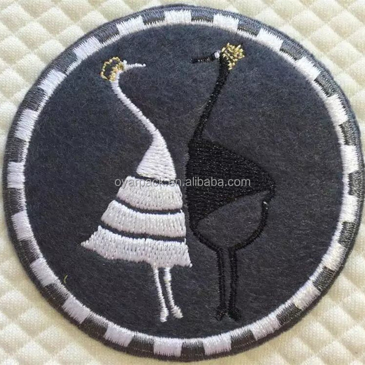 laser cut weaving custom embroidered woven garment patch label badge