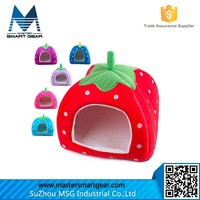 Soft Sponge Strawberry Small Cotton Soft Dog Cat Pet Bed House Cat House S/M/L/XL PT76