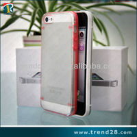 2014 new product transparent design pc phone cover case for iphone 5 5s