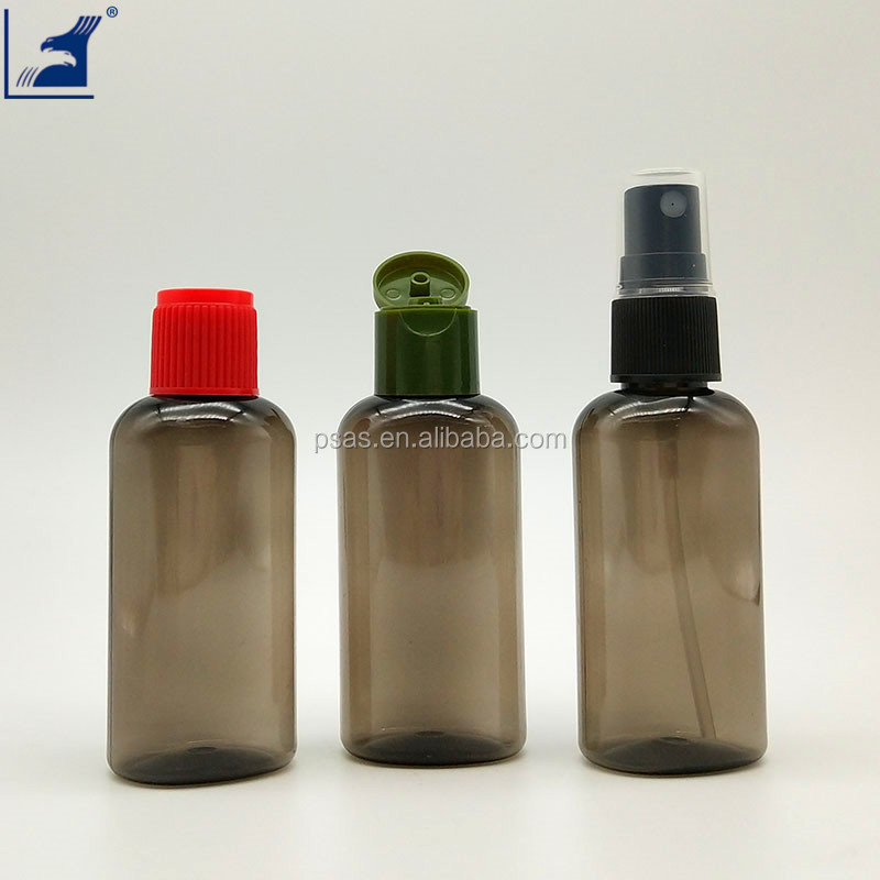 50ml empty PET flat plastic bottle