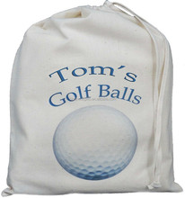 China new production Eco friendly drawstring cotton canvas golf ball bag