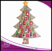 2016 hot selling Fabric christmas decorating Advent Calendar