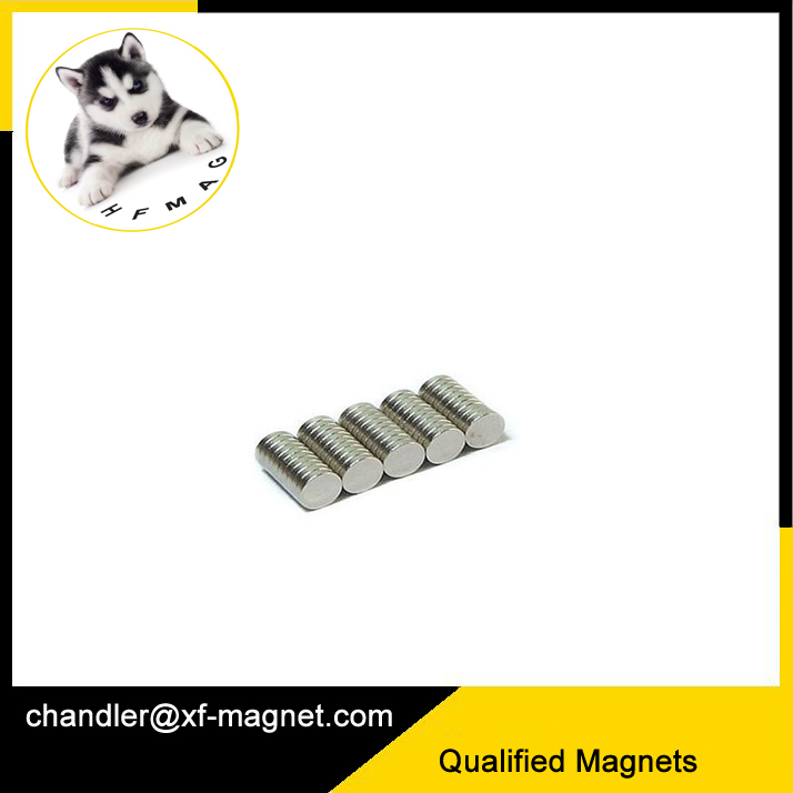Vacuum Package Button Permanent Magnet