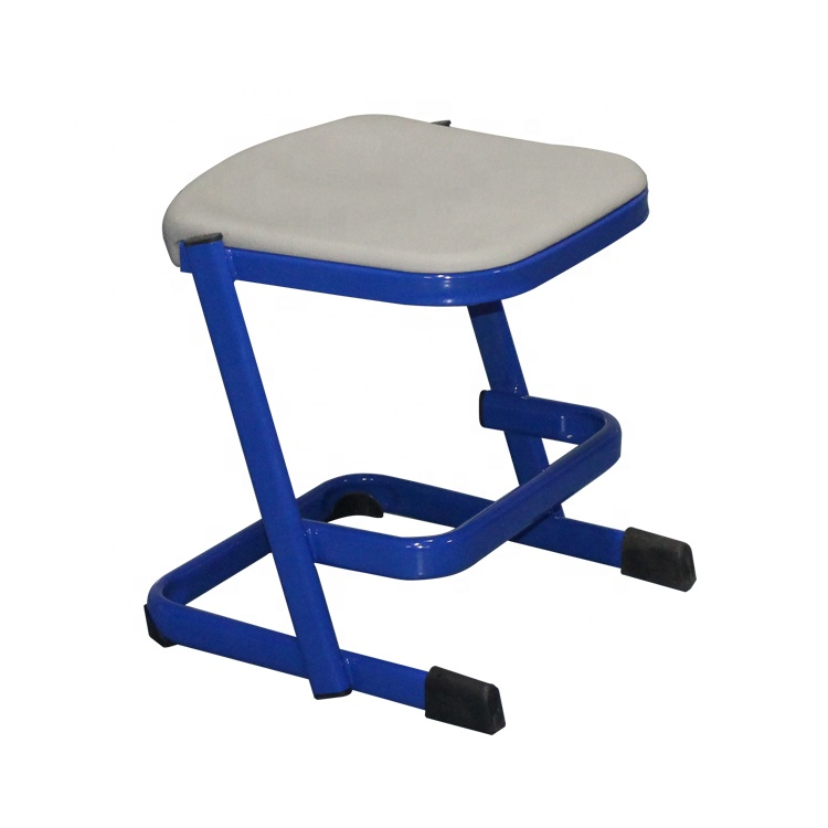 Chinese factory school furniture science chemistry lab chair steel frame laboratory stool