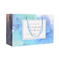 Custom Acceptable Handmade blue Gift Paper Bag for hair extension packing
