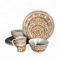 Luxury West Style High Quality Bumpy Melamine Dinnerware set