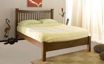 (W-B-0056) pine wood modern bed furniture