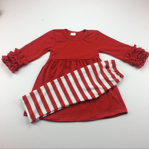 kids clothing wholesale toddler girls striped clothing set cheap cotton clothes sets newborn boutique knit outfits