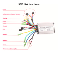 36v 14A powerful 250W electric bike dc motor speed controller 6 mofest speed controller