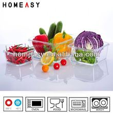 made in China lock lid glass food storage