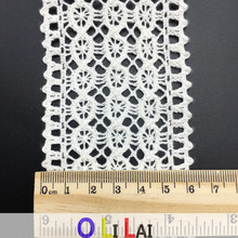 6.4CM OLCT701 French Net Corchet Lace With Cotton Material For Party Dresses
