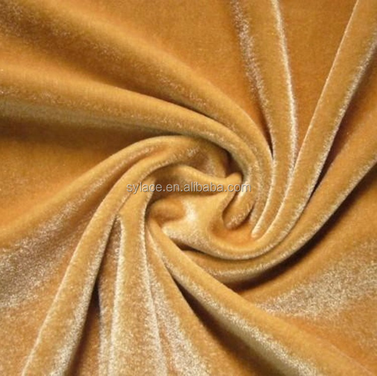 2016 Colorful silk velvet fabric price
