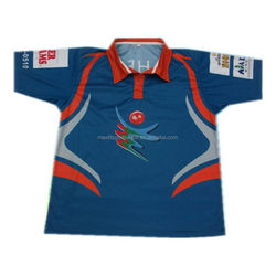 manufactory of custom design printed mens cricket team name jersey design