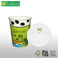 Disposable Custom logo 8oz 12oz 16oz paper coffee cups with lids