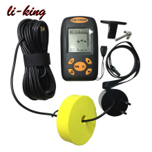 Hot selling Ultrasonic Fish Finder, Water Depth Temperature Fishfinder with Wired Sonar Sensor Transducer and LCD Display