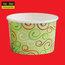3oz Disposable design paper ice cream cup