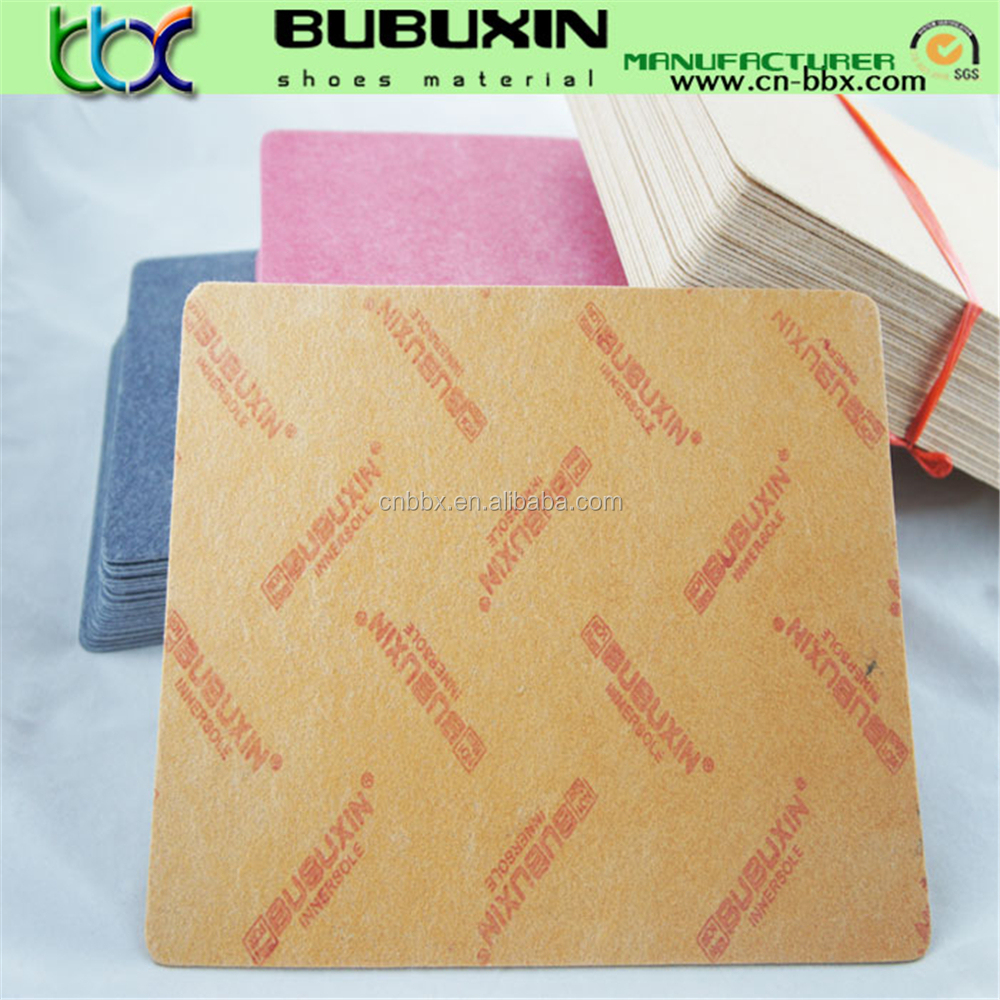 Supplier insole paper board fiber board of insols materials to make shoes midsole