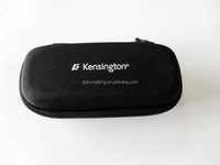 Custom logo black leather PU eva box cheap eva glasses case