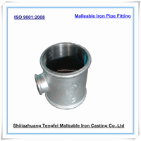 Malleable iron reducing tees, female thread galvanized malleable iron pipe fitting,