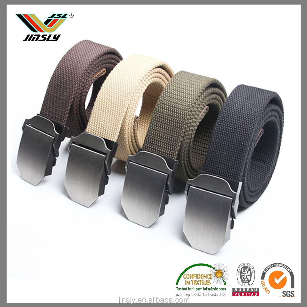 Wholesale Man School Canvas Woven Custom Printing Manufacturer Belt
