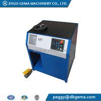 24 Inch Polyester Acrylic NOMEX PPS PTFE fiberglass pulse jet media dust filter bag hose fitting crimping machine Brazil