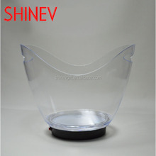 plastic led ice buckets wholesale rechargeable champagne cooler barrel