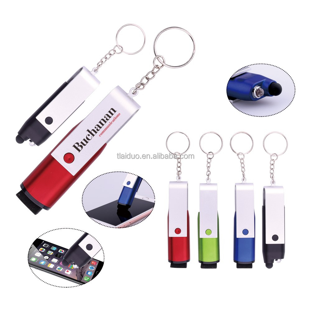 2016 popular design good quality small quantity order stock price stylus touch pen with key ring