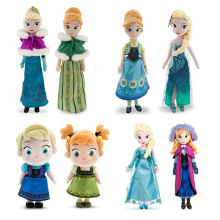 2017 Brinquedos Trolls Princess Plush Dolls Elsa & Anna & Olaf Dolls & Accessories Kristoff Sven Plush Toys for Birthday Gift