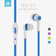 High quality mp3 earpieces headset wired earphone with mic