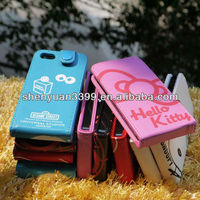 2013 Latest fashion beautiful smartphone case for iphone5 with KT cat