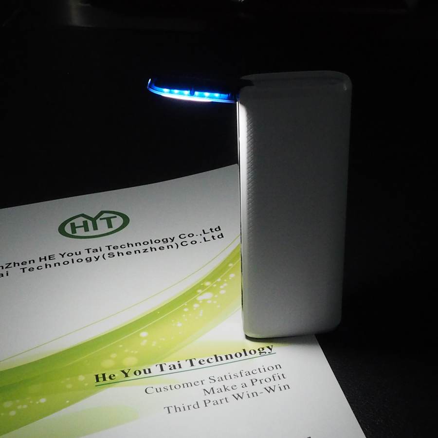 2015 new arrival power bank with led reading light lamp portable and save energy