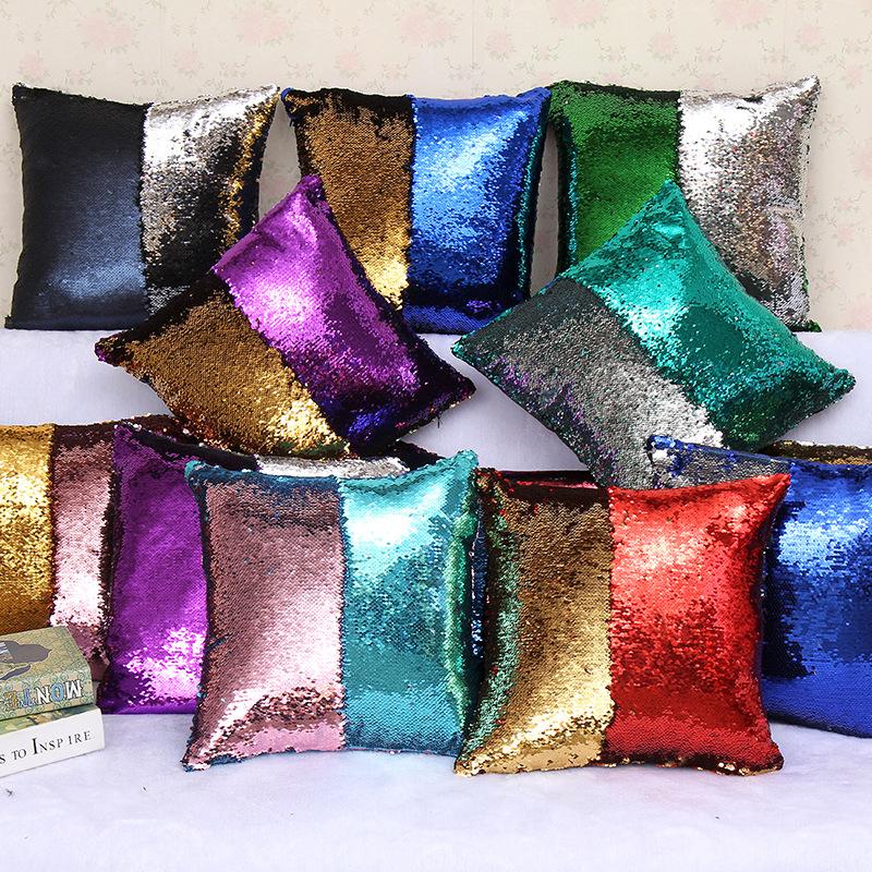 Декоративные подушки с пайетками купить