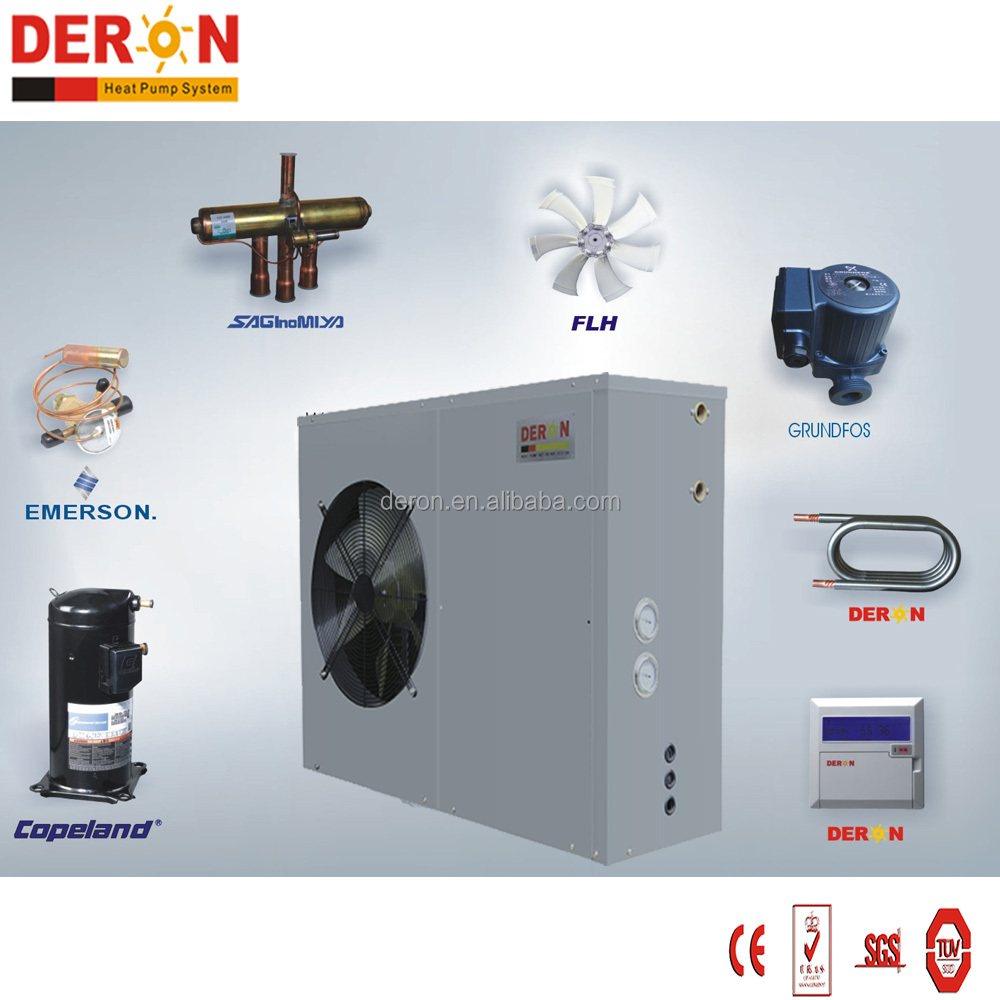2017 new technology heating home air to water heat pump conbine solar energy system from Deron manufacturer