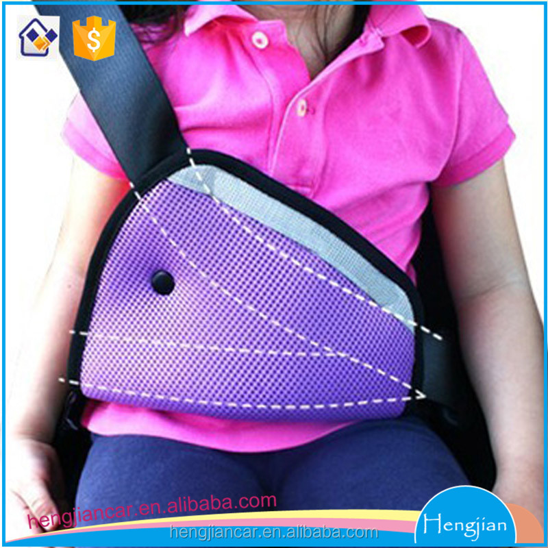 Triangle polyester mesh car seat safety belt cover/pad/protector/adjuster for kids