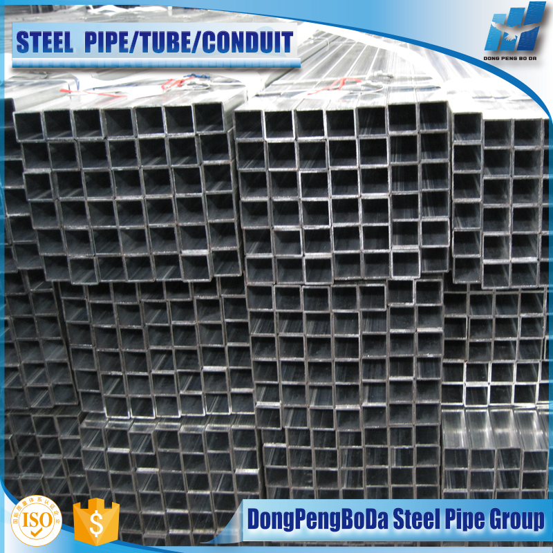 15*15mm carbon steel square heavy hot dip galvanized gi pipe
