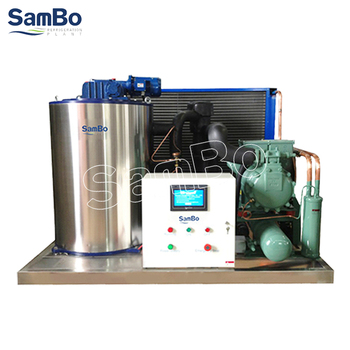 Shenzhen Factory Price SamBo Air Cooled Condenser Commerical Used 3T Flake Ice Machine manufacturer