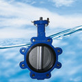 Cast iron DN300 ANSI handle lug wafer type butterfly valve factory