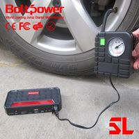 Boltpower G06A roadside emergency car portable battery jump starter with portable air compressor pump