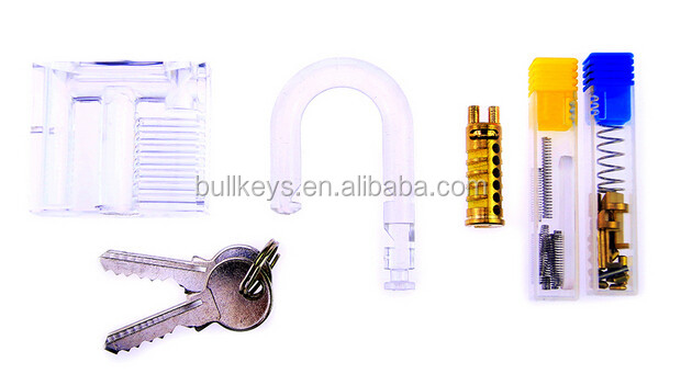 Lockmall Lock Pick Set Assembly Kit Including all the lock parts for assembling the padlock Plus pick tool and Tension Wrench