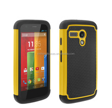 For Moto G phone case, hybrid rubber phone case cover for Moto G